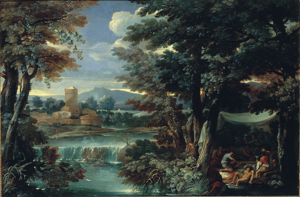 Landscape with a Scene under a Tent