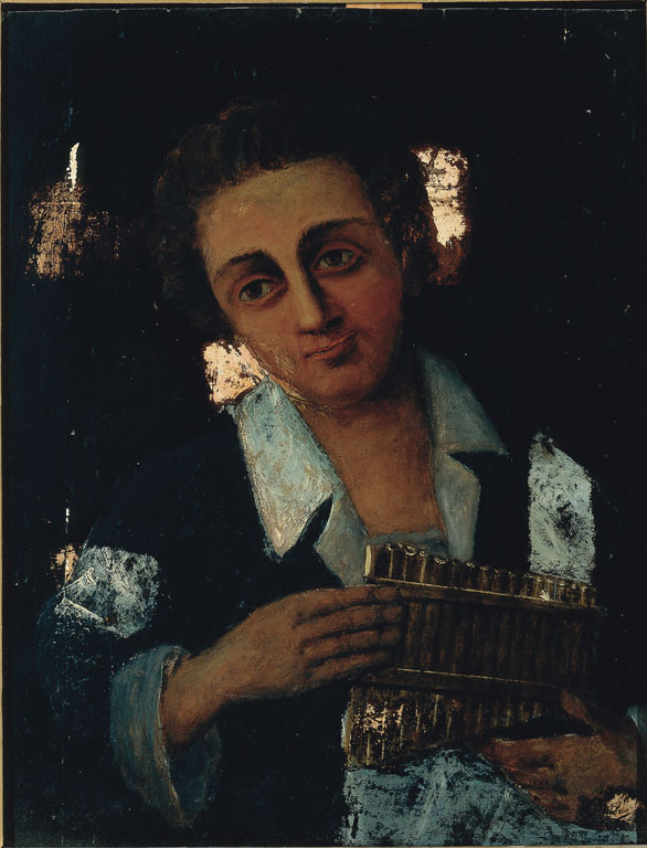Youth with a panpipe