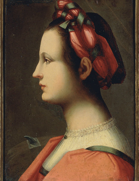 Portrait of a young woman as Saint Catherine of Alexandria