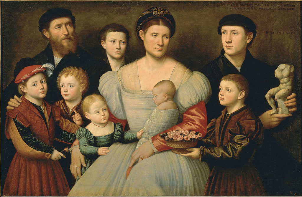 Portrait of his brother's family