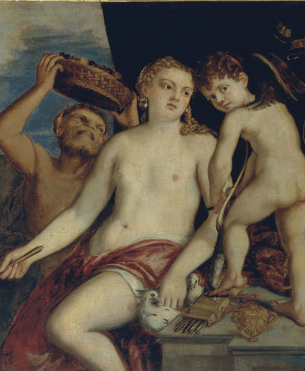 Venus, Cupid, and a satyr