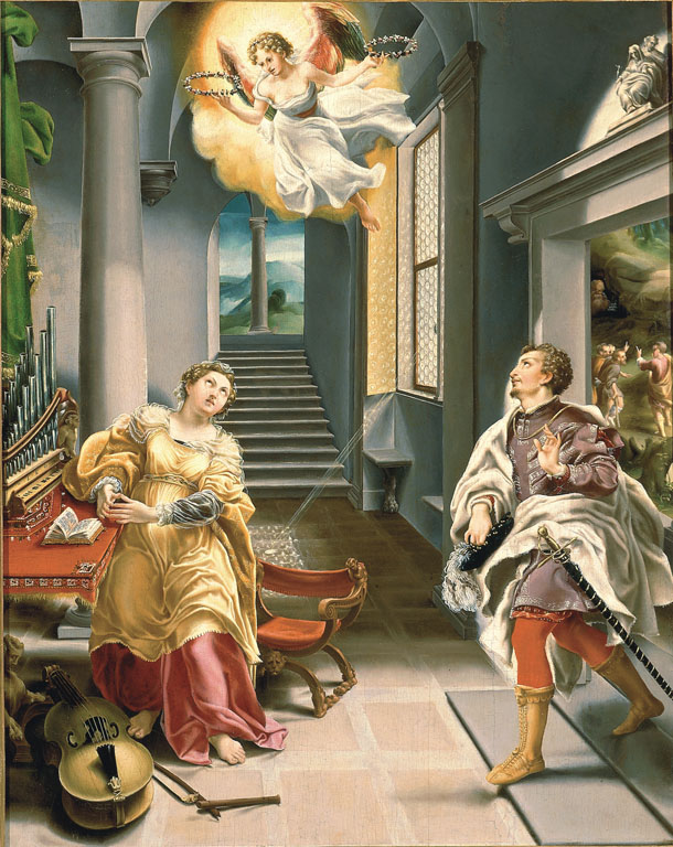 Saints Cecilia and Valerian