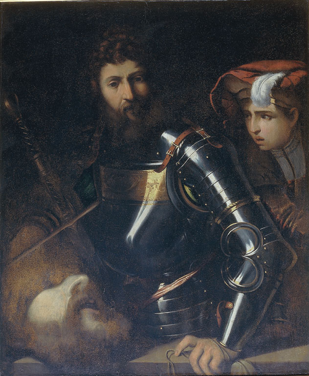 David with the Head of Goliath and a pageboy