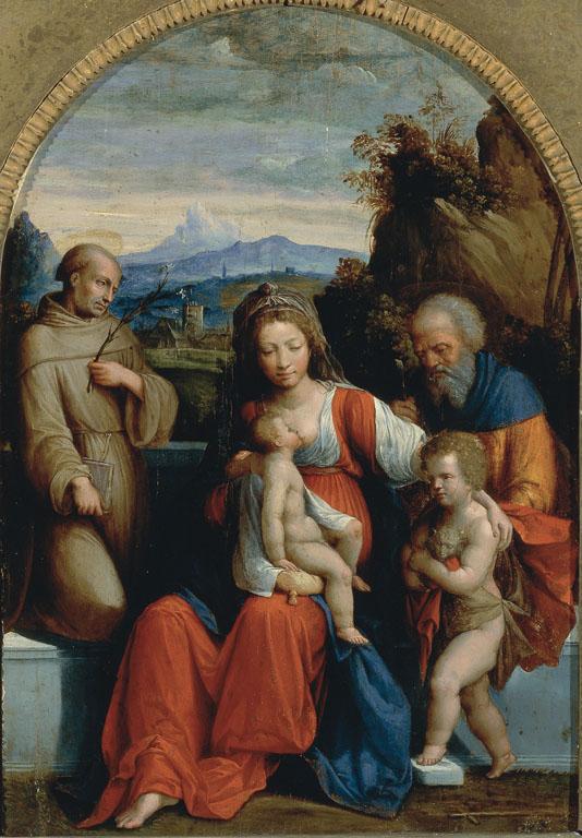 Holy Family with The Infant Saint John the Baptist and Saint Anthony of Padua