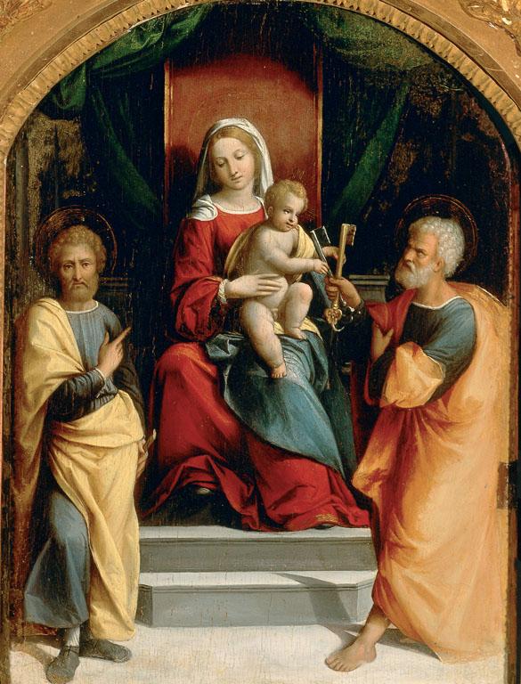 Madonna and Child with SaintsPeterandPaul