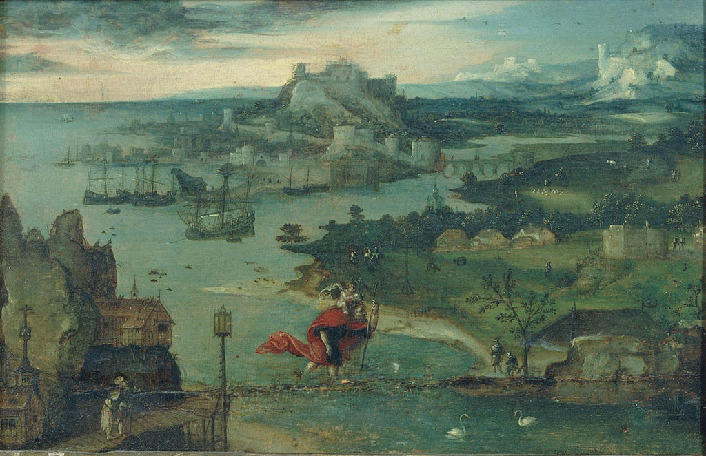 Landscape with Saint Cristopher
