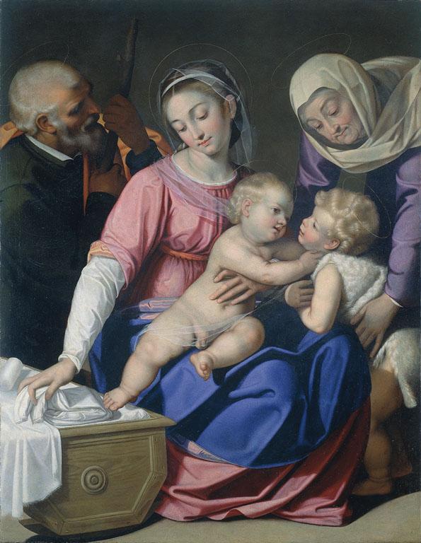 Holy Family with The Infant Saint John the Baptist and Saint Elizabeth