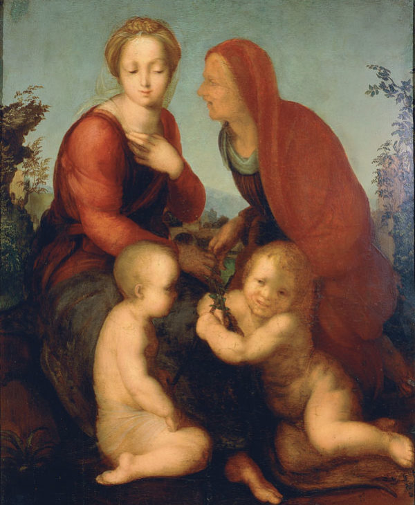 Madonna and Child with The Infant Saint John the Baptist and Saint Elizabeth