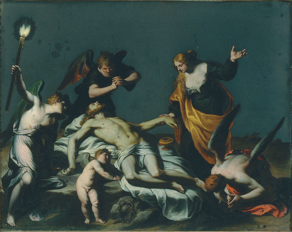 The Dead Christ with Mary Magdalene and Four Angels