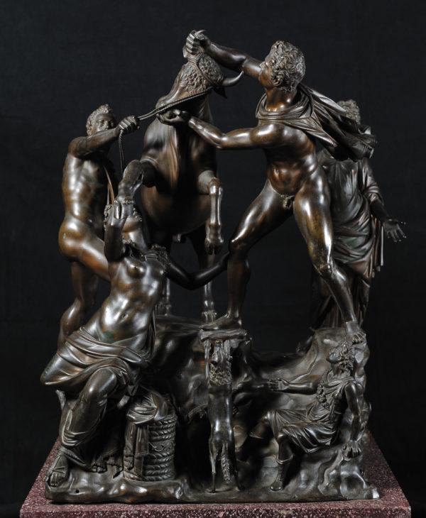 Farnese Bull, on modern base of porphyry