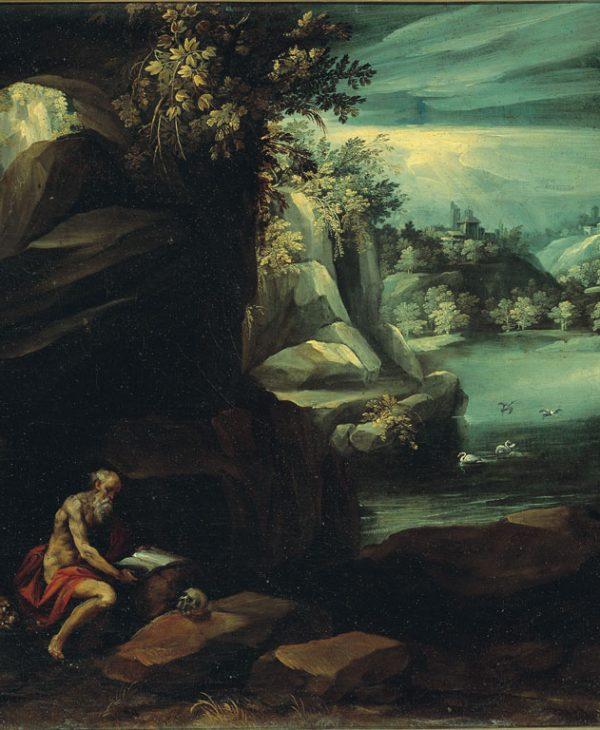 Paesaggio con San Gerolamo