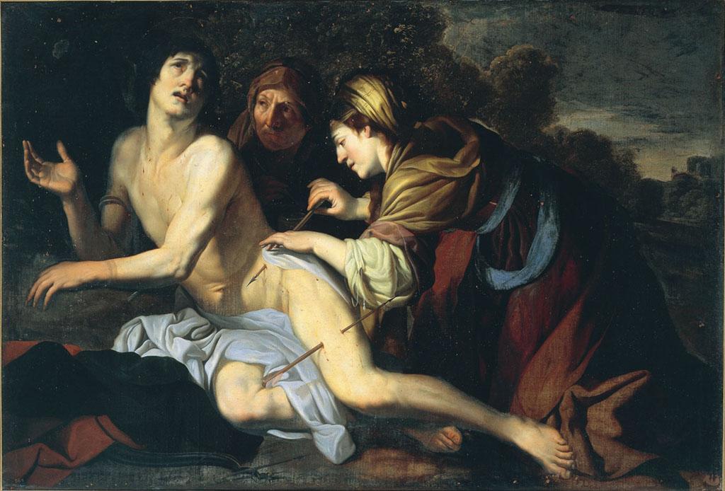 San Sebastiano curato dalle pie donne