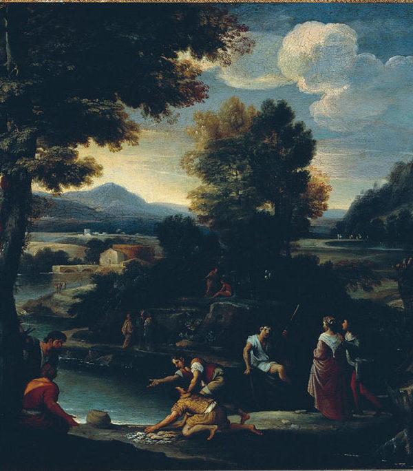 Paesaggio con pescatori