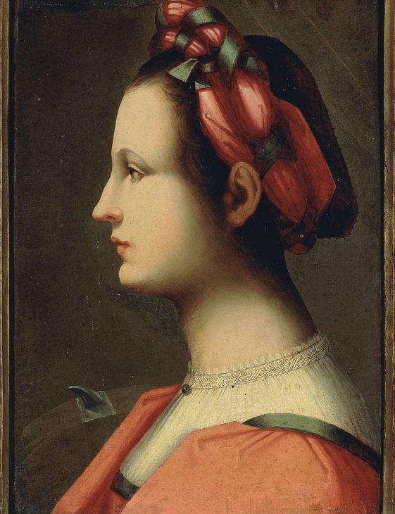 Ritratto di giovane donna come Santa Caterina d'Alessandria