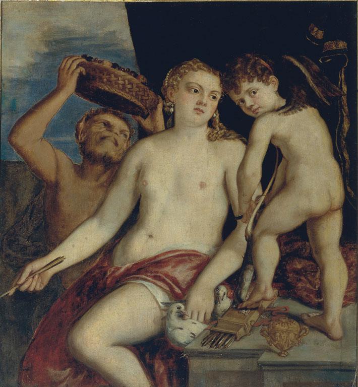 Venere, Amore e un Satiro