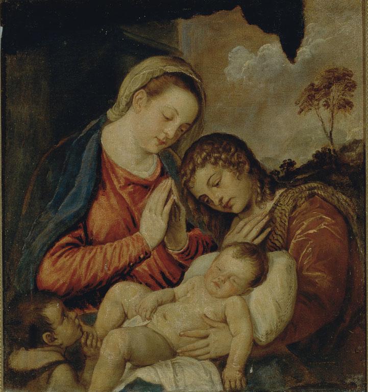 Madonna con il Bambino, San Giovannino e un angelo