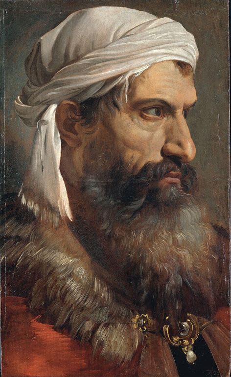 Testa d'uomo con turbante