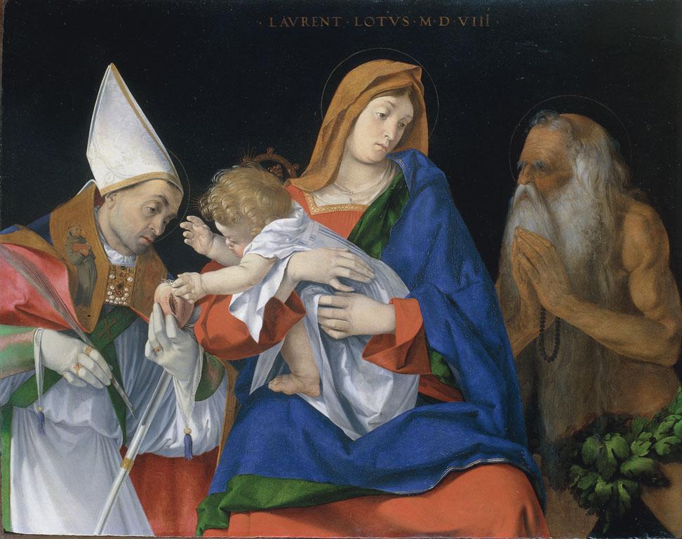 Madonna con Bambino tra i Santi Ignazio di Antiochia e Onofrio