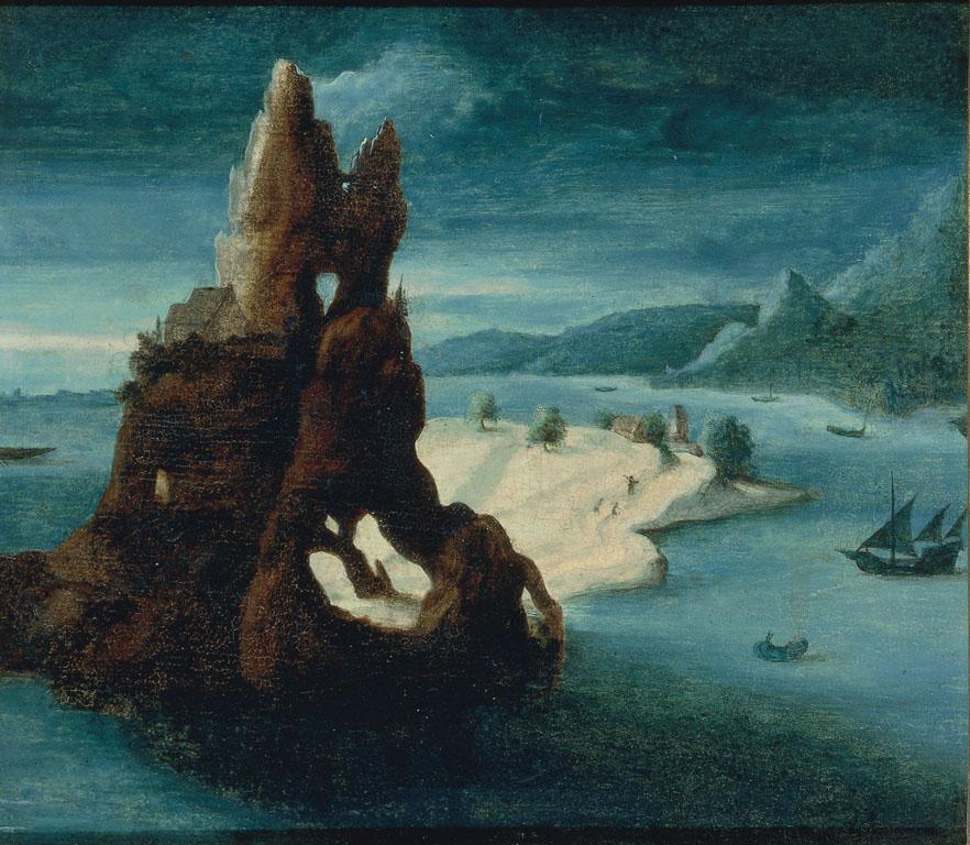 Veduta marina con roccia