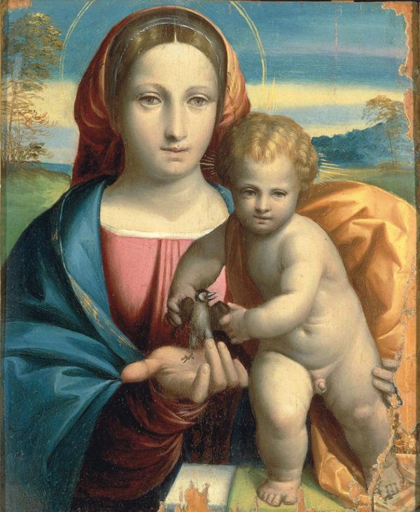 Madonna con Bambino e un uccellino