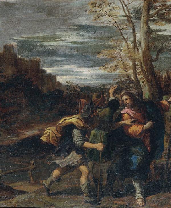 Cristo con i discepoli sulla via di Emmaus