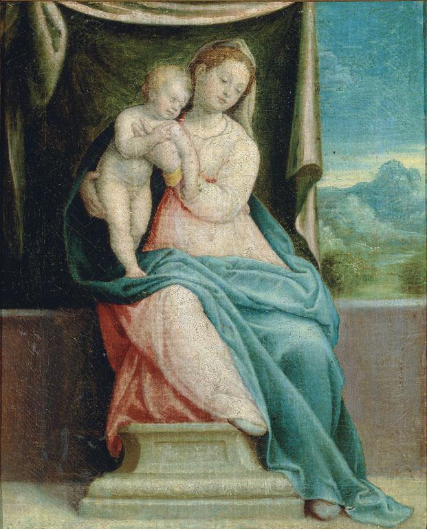 Madonna con Bambino, copia parziale dalla Pala di Sant'Angelo in Vado