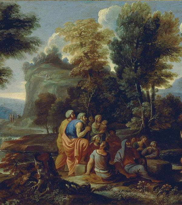 Paesaggio con predica del Battista
