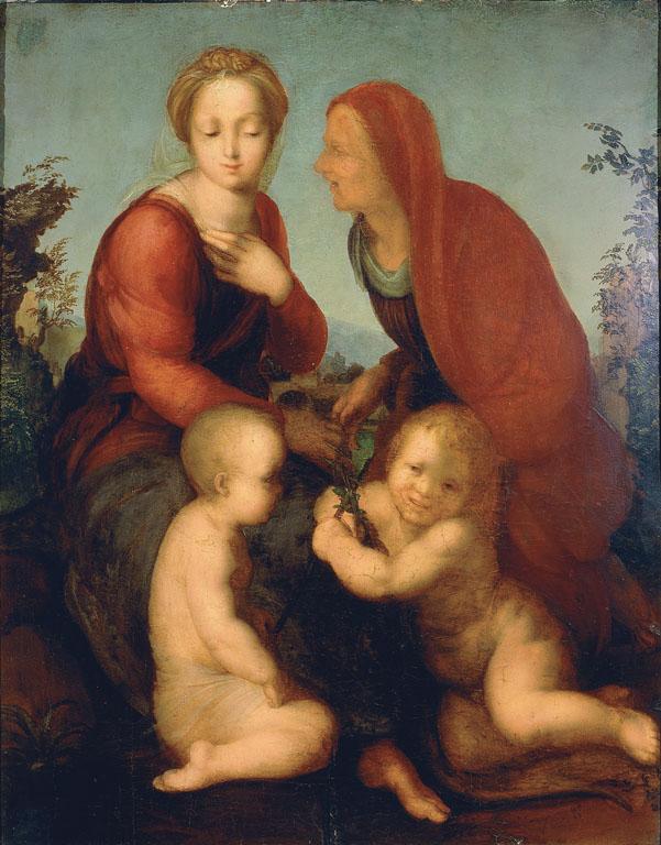Madonna con Bambino, san Giovannino e santa Elisabetta