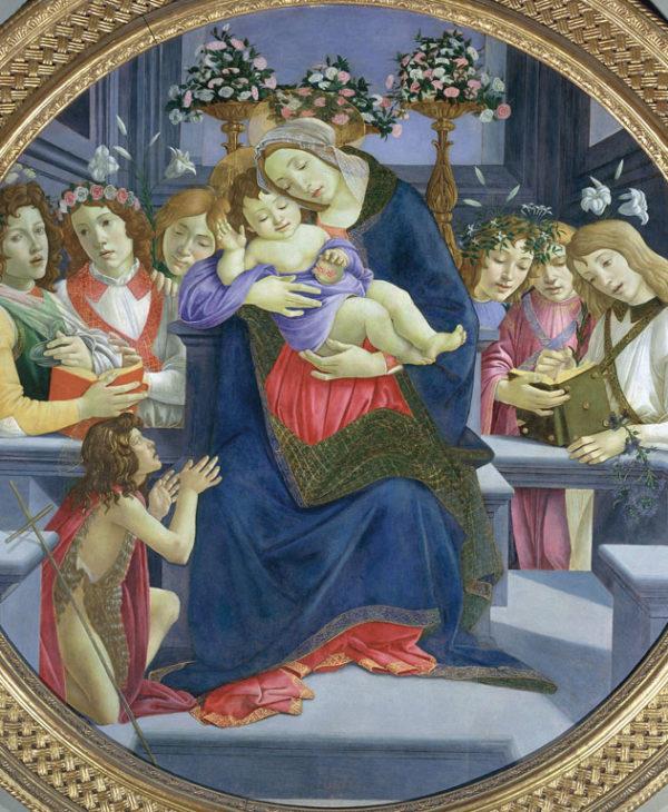 Madonna con Bambino, San Giovannino e angeli