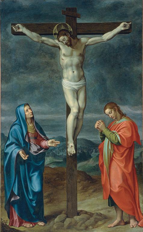Crocifissione con la Madonna e san Giovanni evangelista