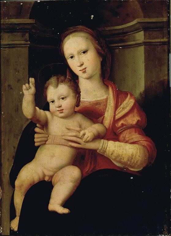 Madonna con Bambino benedicente