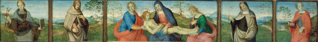 Pietà e quattro santi