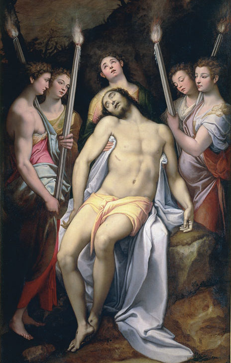 Cristo morto fra gli angeli