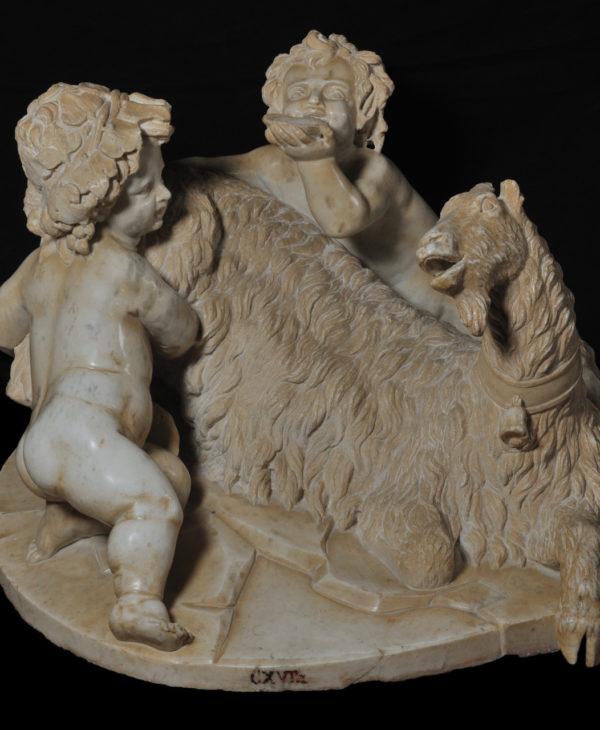 La capra Amaltea con Giove bambino e un faunetto