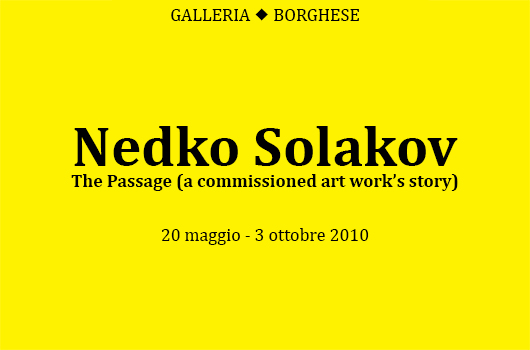 NEDKO SOLAKOV. THE PASSAGE  (A COMMISSIONED ART WORK'S STORY)