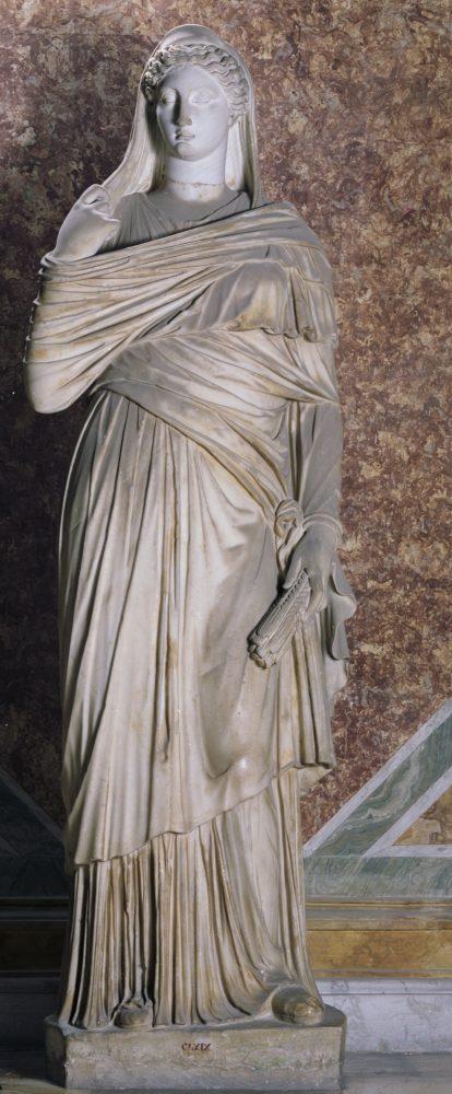 Statua femminile ammantata restaurata come Cerere