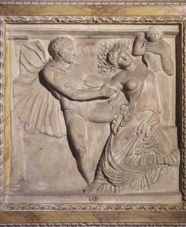 Rilievo con Aiace e Cassandra presso il Palladio